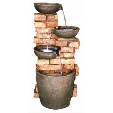 4 Bowls on Brick Wall