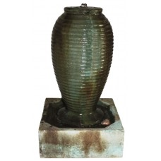 Small Ribbed Jar Fountain