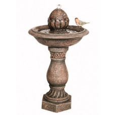Solar Finial on Pillar with Bird