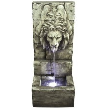 Grey Lions Head on Wall