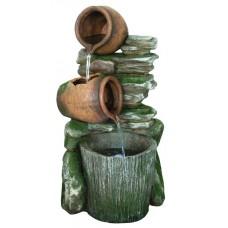 2 Pots with Bucket on Slate
