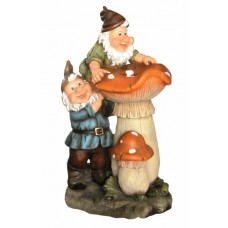 2 Gnomes on Toadstools