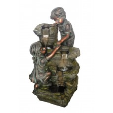 Boy & Girl at Rock Formation