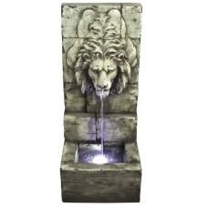 Grey Lions Head on Wall